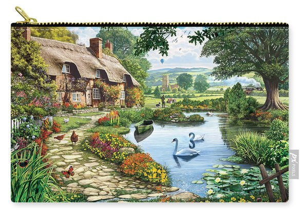 Cottage By The Lake Carry-all Pouch