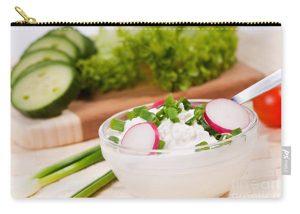 Cottage Cheese With Radish And Chives  Carry-all Pouch