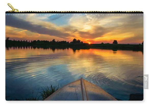 Carry-all Pouch featuring the photograph Cottage Country's Silhouette by Garvin Hunter