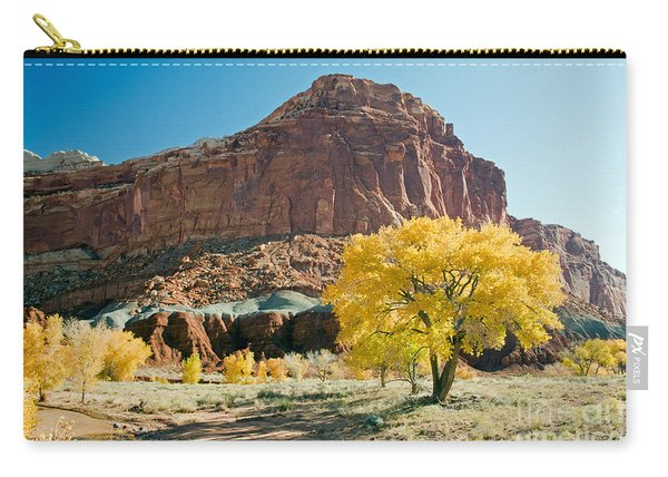 Cottonwoods In Fall The Castlecapitol Reef National Park Carry-all Pouch