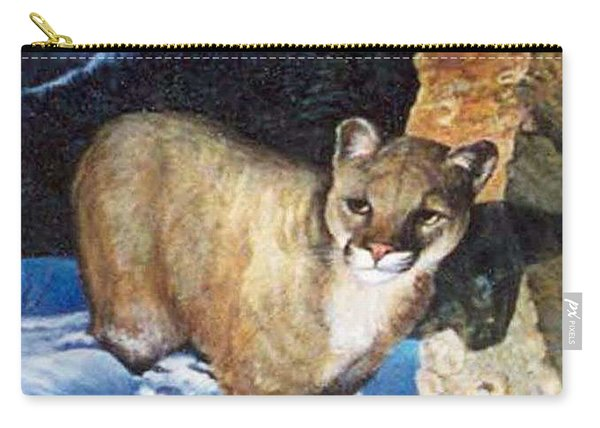 Cougar In Snow Carry-all Pouch