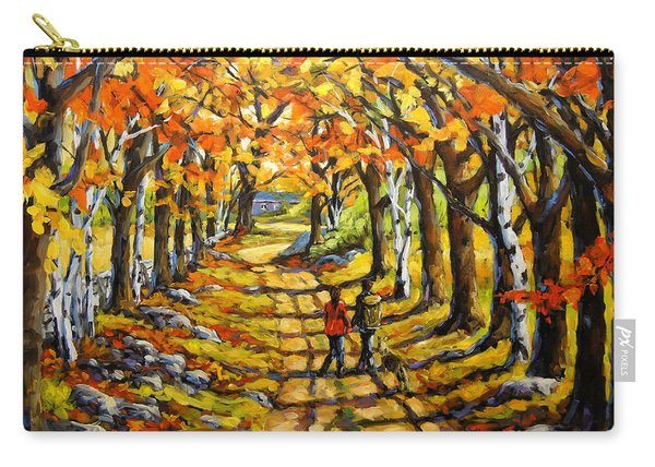 Country Lane Romance By Prankearts Carry-all Pouch