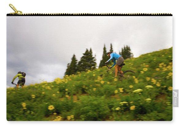 Couple Mountain Biking, Colorado Carry-all Pouch