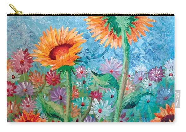 Courting Sunflowers Carry-all Pouch