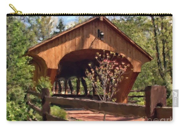Covered Bridge At Olmsted Falls-spring Carry-all Pouch