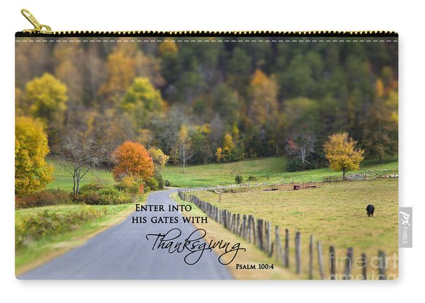 Cow Pasture With Scripture Carry-all Pouch