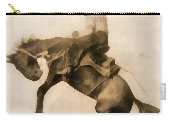 Cowboy On Bucking Bronco Carry-all Pouch