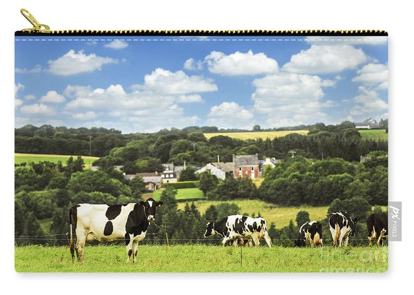 Cows In A Pasture In Brittany Carry-all Pouch