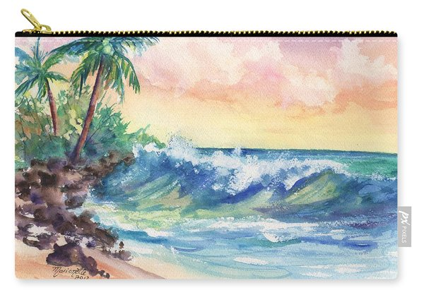 Crashing Waves At Sunrise Carry-all Pouch