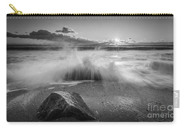 Crashing Waves Bw Carry-all Pouch