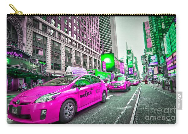 Crazy Cabs In Manhattan Carry-all Pouch