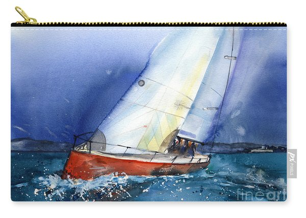 Crazy Coyote - Sailboat Carry-all Pouch