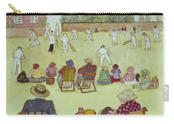 Cricket On The Green, 1987 Watercolour On Paper Carry-all Pouch