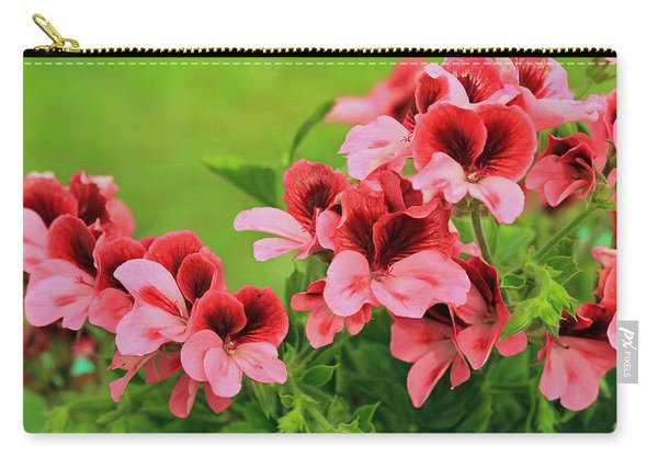 Crimson And Coral Carry-all Pouch