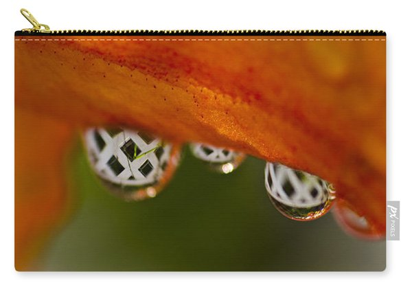 Criss Cross Water Drop Carry-all Pouch