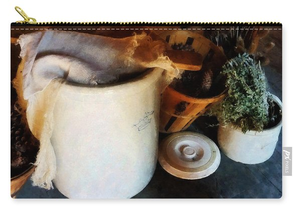 Crock And Basket Carry-all Pouch