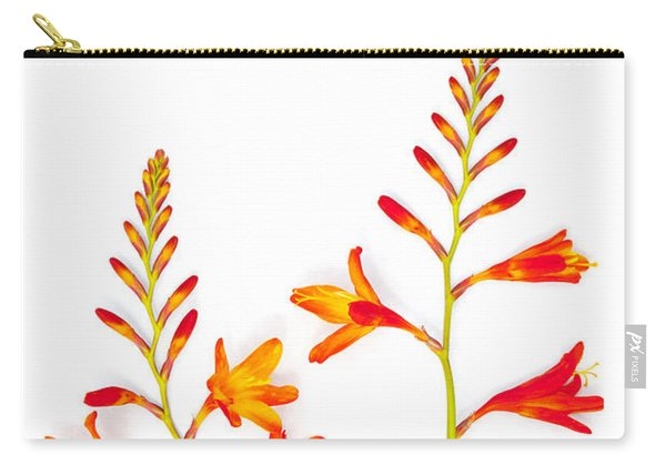 Crocosmia On White Carry-all Pouch