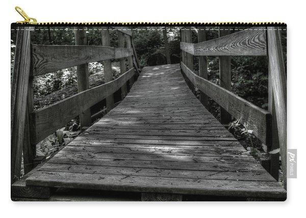 Carry-all Pouch featuring the photograph Crooked Bridge by Michael Colgate