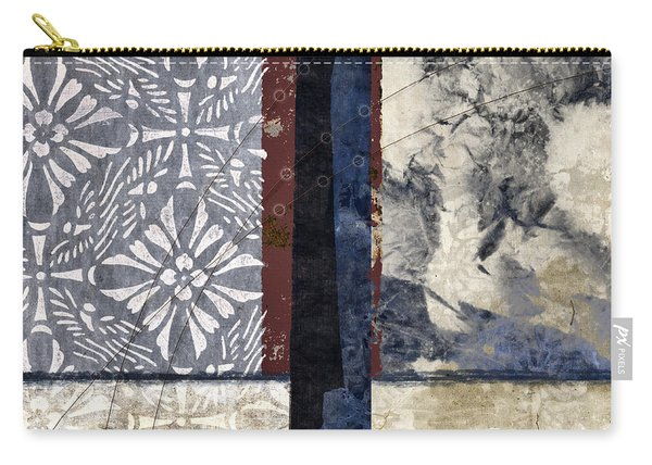 Cross Polynesian Abstract Collage Carry-all Pouch