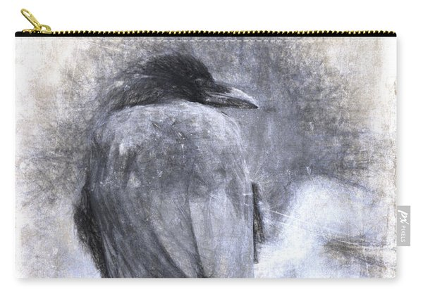Crow Sketch Painterly Effect Carry-all Pouch
