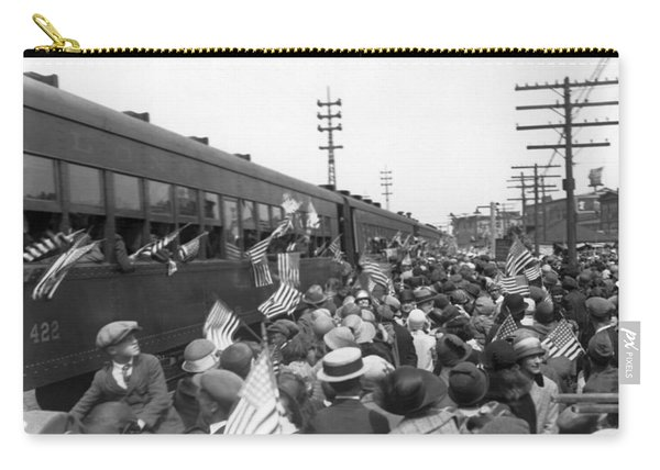 Crowds Cheer Ny Train Service Carry-all Pouch