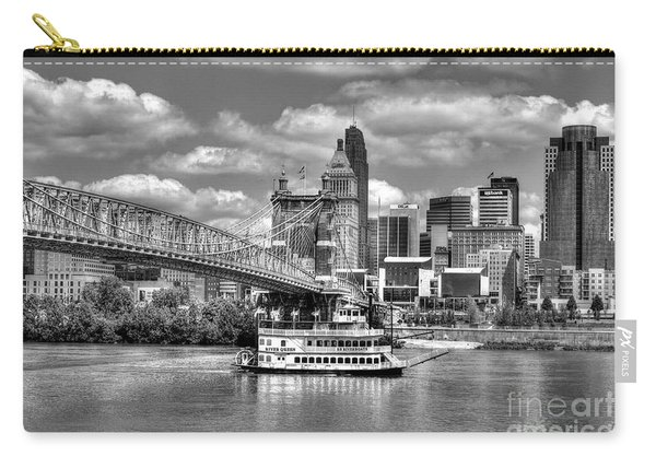 Cruising By Cincinnati 3 Bw Carry-all Pouch