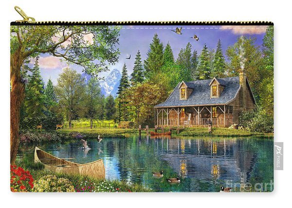 Crystal Lake Cabin Carry-all Pouch