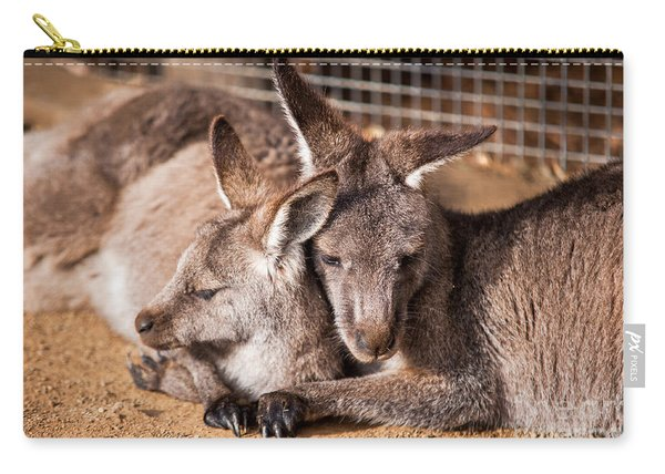 Cuddling Kangaroos Carry-all Pouch
