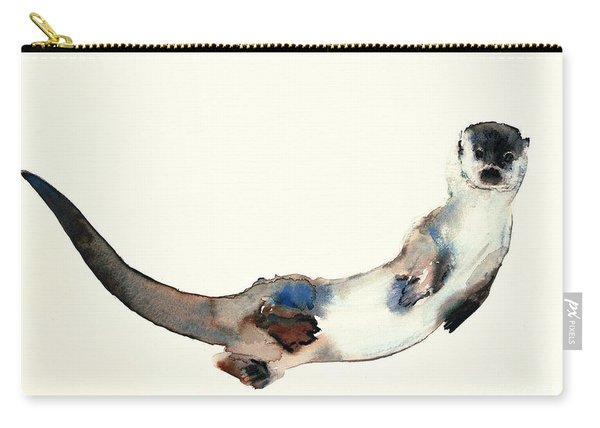 Curious Otter Carry-all Pouch