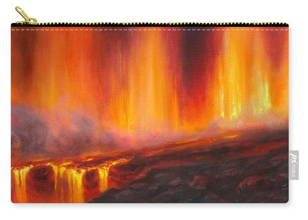 Erupting Kilauea Volcano On The Big Island Of Hawaii - Lava Curtain Carry-all Pouch