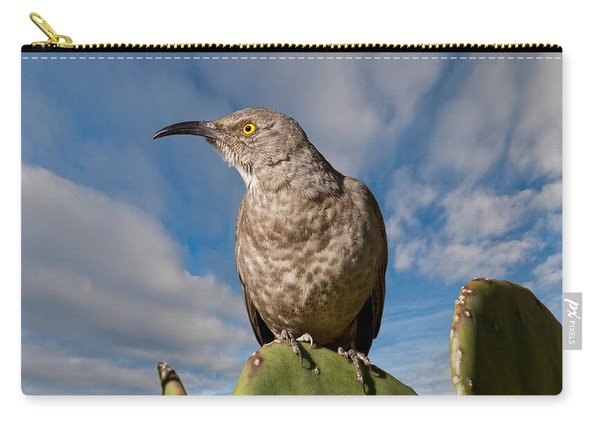Curve-billed Thrasher On A Prickly Pear Cactus Carry-all Pouch