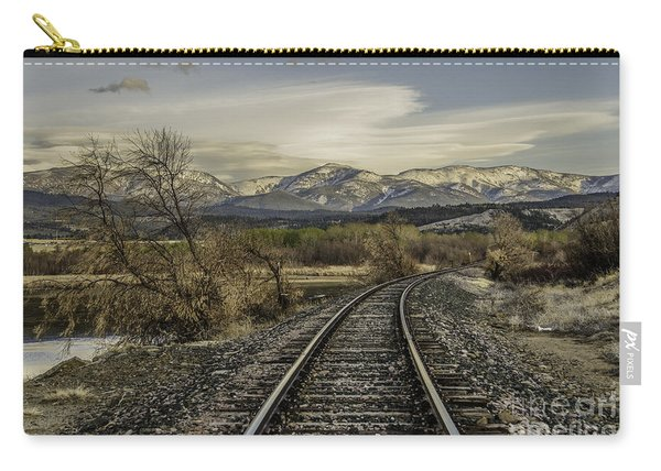 Curve In The Tracks Carry-all Pouch