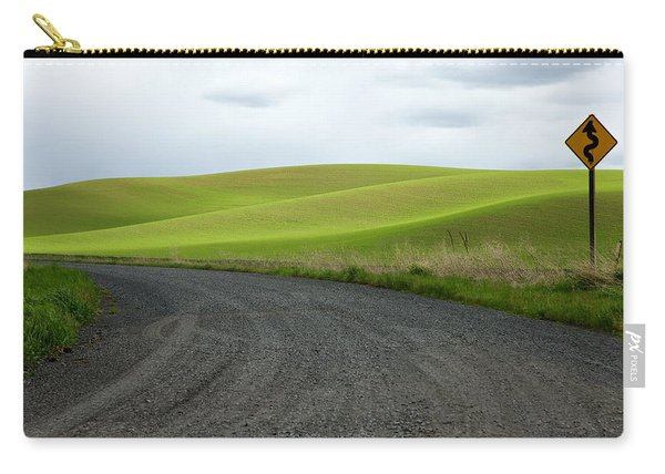 Carry-all Pouch featuring the photograph Curves Ahead by Mary Lee Dereske