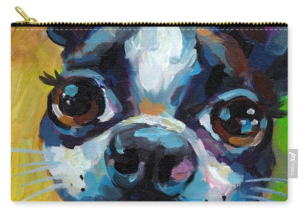 Cute Boston Terrier Puppy Carry-all Pouch