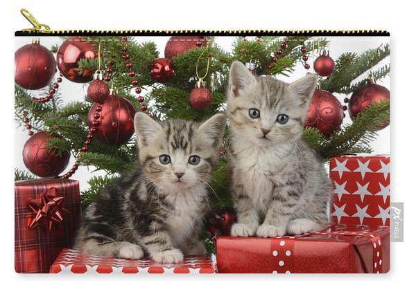 Cute Kitten Xmas Presents Carry-all Pouch