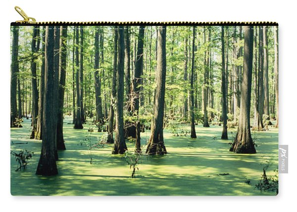 Cypress Trees In A Forest, Shawnee Carry-all Pouch