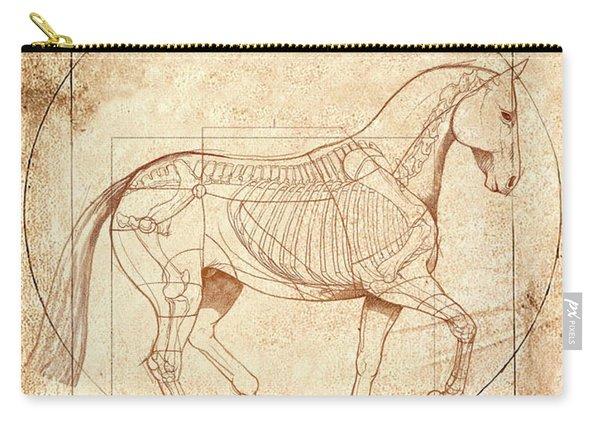 da Vinci Horse in Piaffe Carry-all Pouch