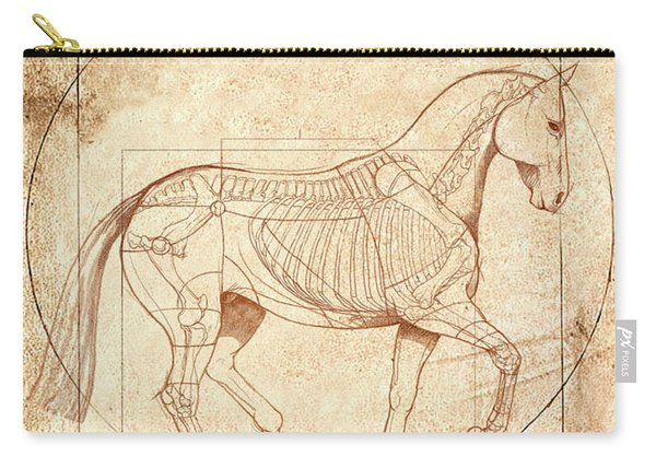 da Vinci Horse in Piaffe Carry-all Pouch