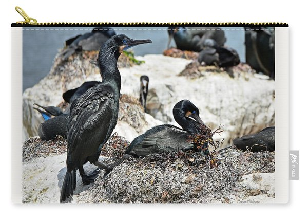 Dad And Mom Building The Best Nest Carry-all Pouch