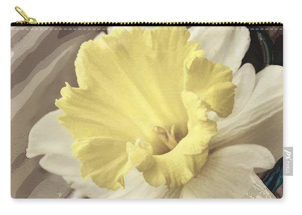 Daffadil In Yellow And White Carry-all Pouch