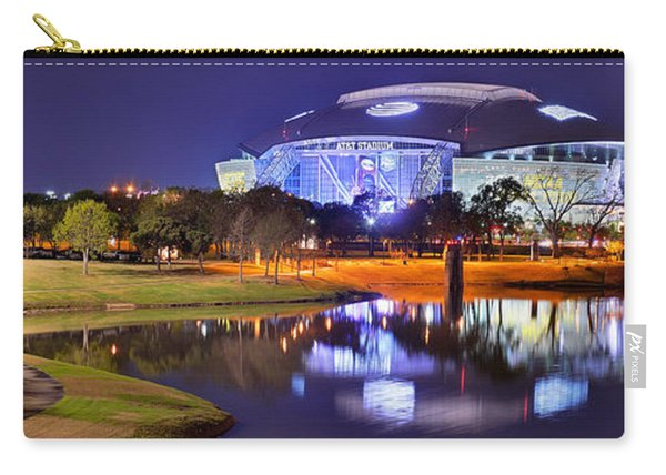 Dallas Cowboys Stadium At Night Att Arlington Texas Panoramic Photo Carry-all Pouch