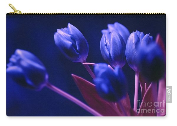 Dark Blue Tulips Carry-all Pouch