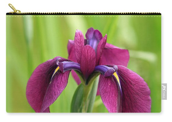 Dark Magenta Iris Carry-all Pouch