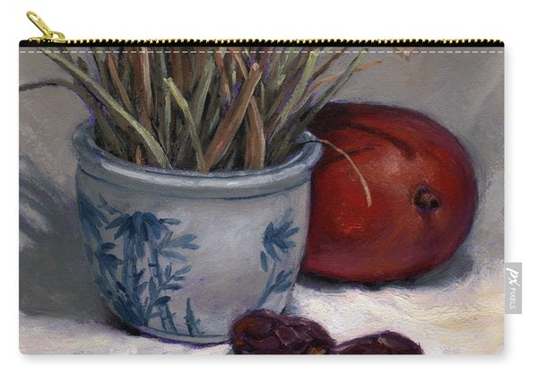 Dates Lemongrass And Mango Carry-all Pouch