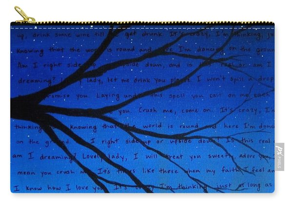 Dave Matthews Band Crush Song Lyric Art Carry-all Pouch