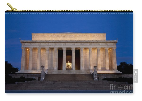 Carry-all Pouch featuring the photograph Dawn At Lincoln Memorial by Brian Jannsen