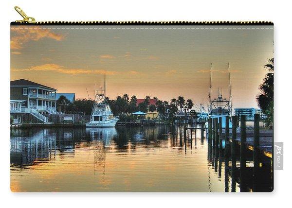 Dawn On A Orange Beach Canal Carry-all Pouch