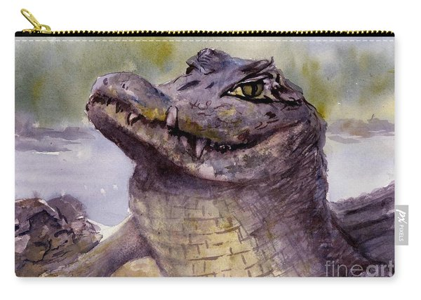 Caiman Crocodile  Carry-all Pouch