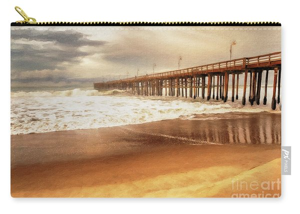 Day At The Pier Large Canvas Art, Canvas Print, Large Art, Large Wall Decor, Home Decor, Photograph Carry-all Pouch