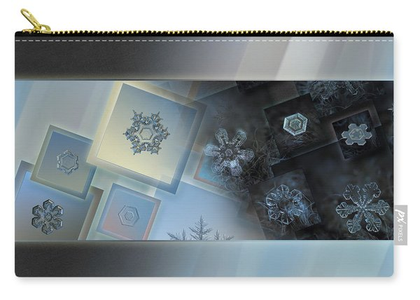 Snowflake Collage - Daybreak Carry-all Pouch